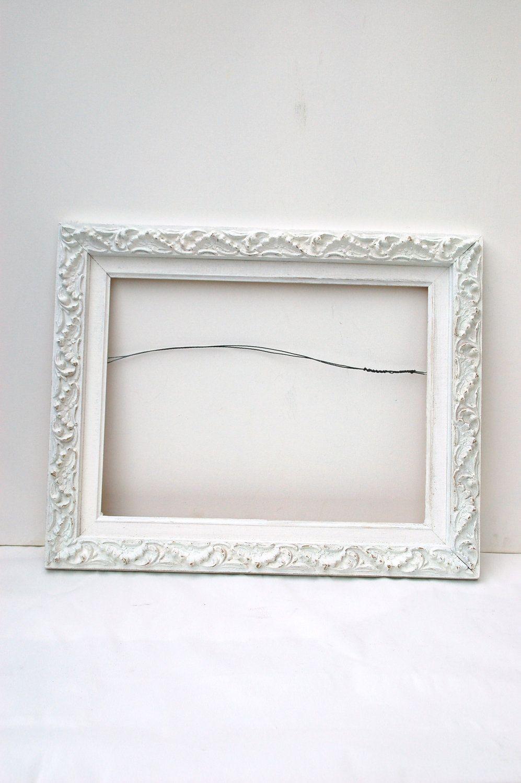 ornate vintage white shabby chic frame country shabby chic home ...