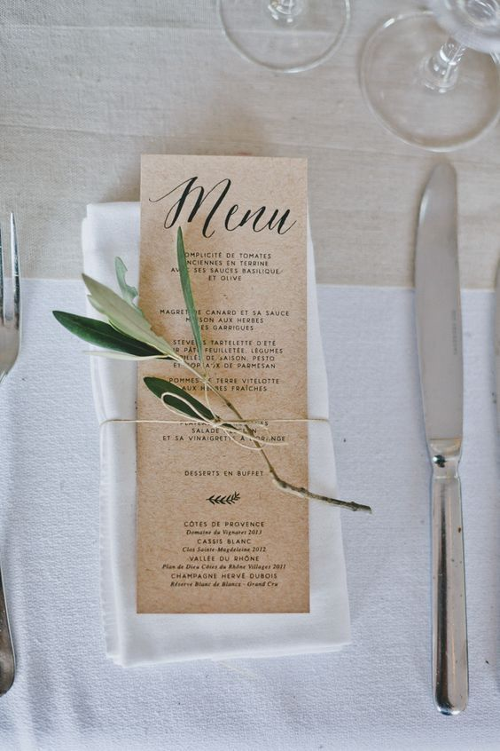 Food and wine wedding
