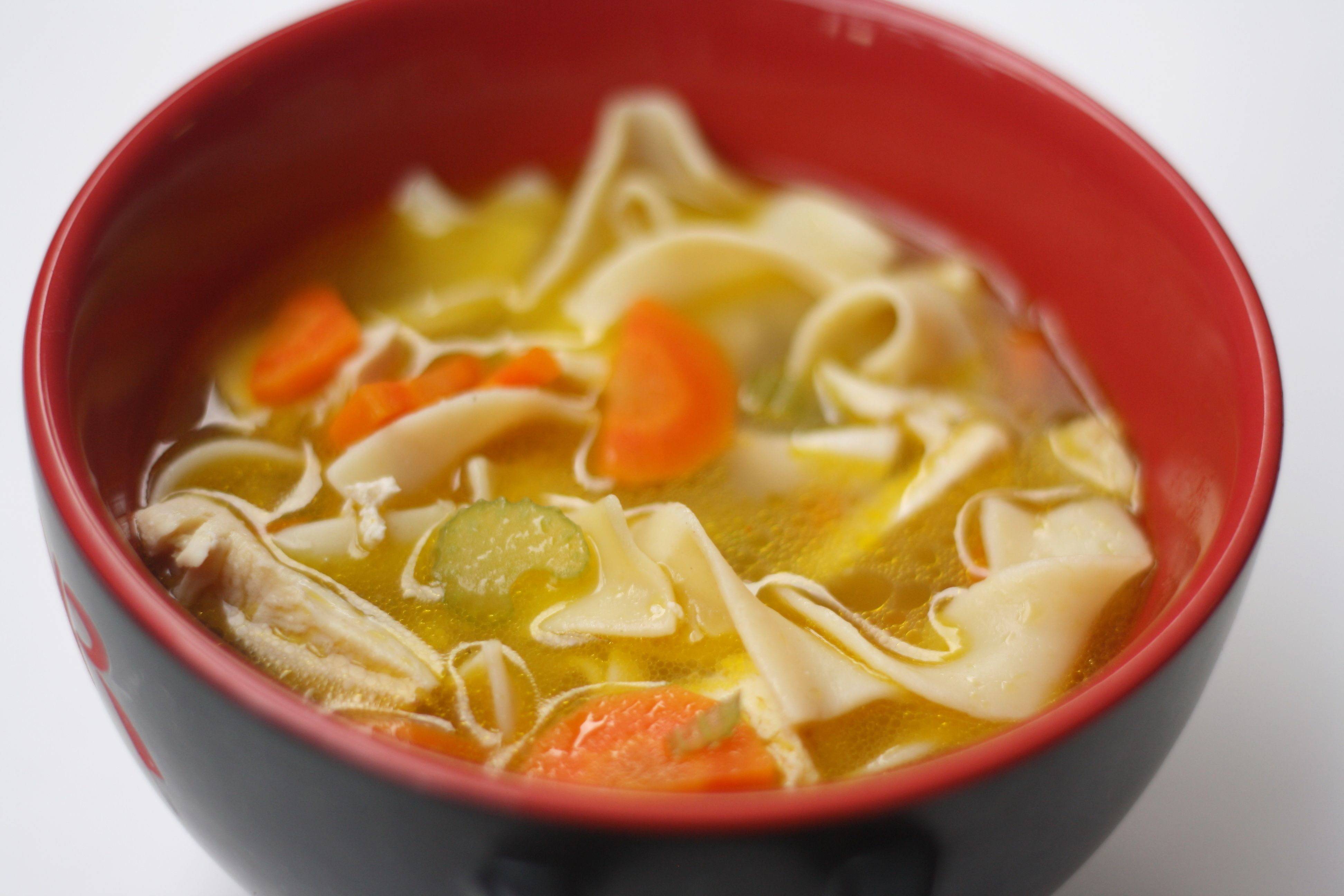 Nothing Cures A Cold Like Homemade Chicken Noodle Soup With Broth