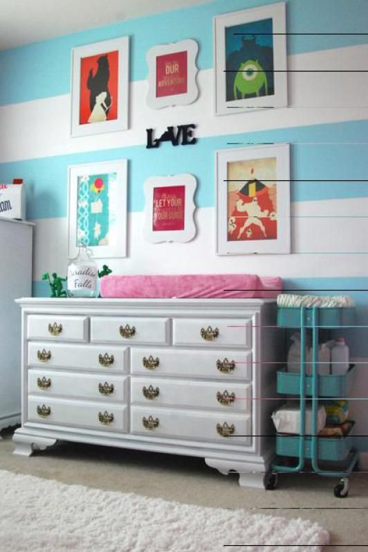 decoracao-quarto-infantil-disney-quarto-personagens-variados