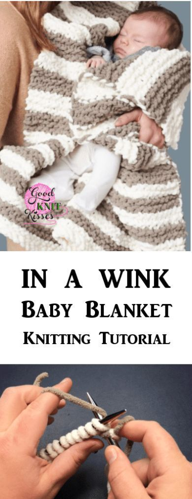 In A Wink Baby Blanket | Yarnspirations | GoodKnit Kisses