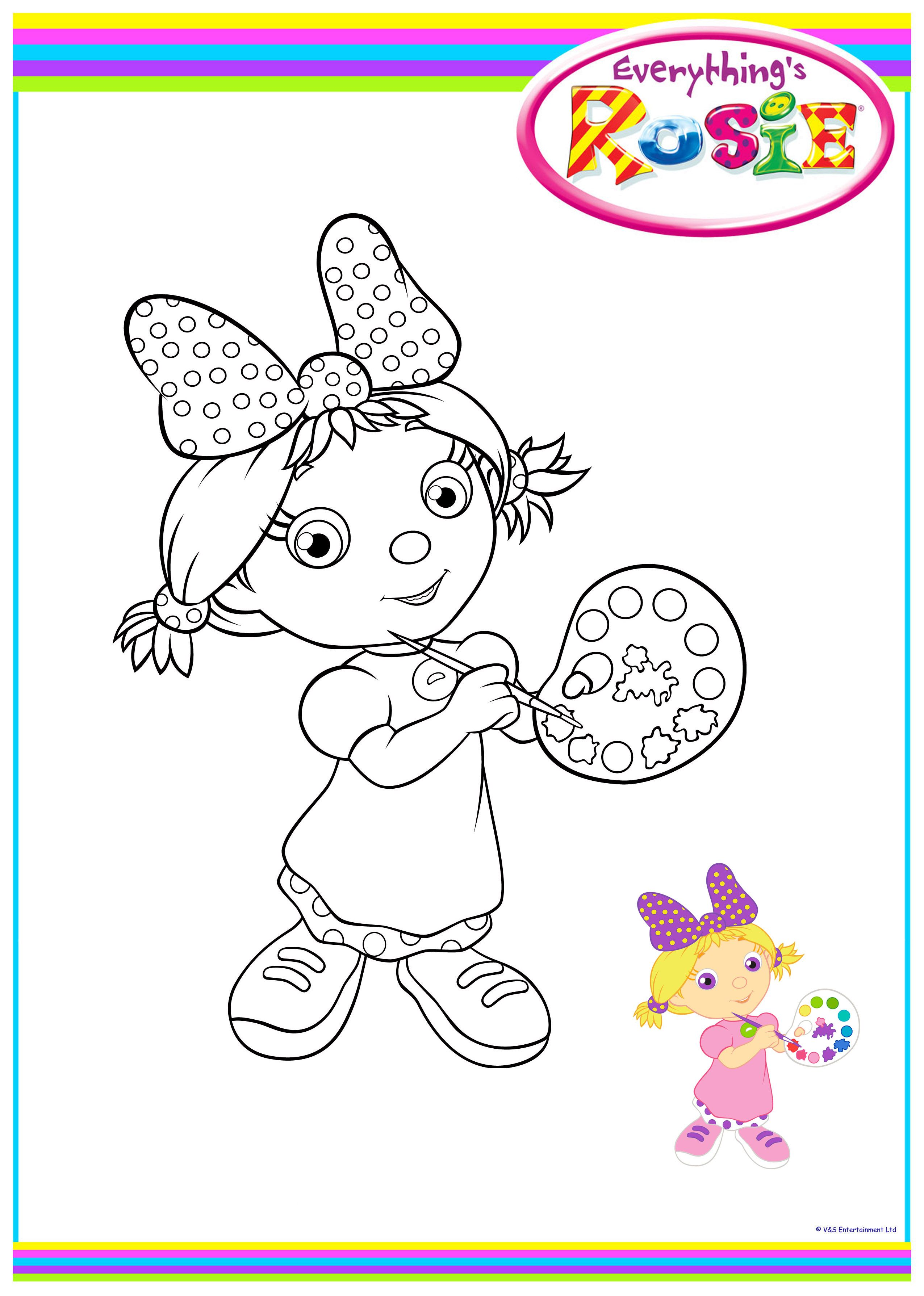 everythings rosie coloring book pages - photo#7