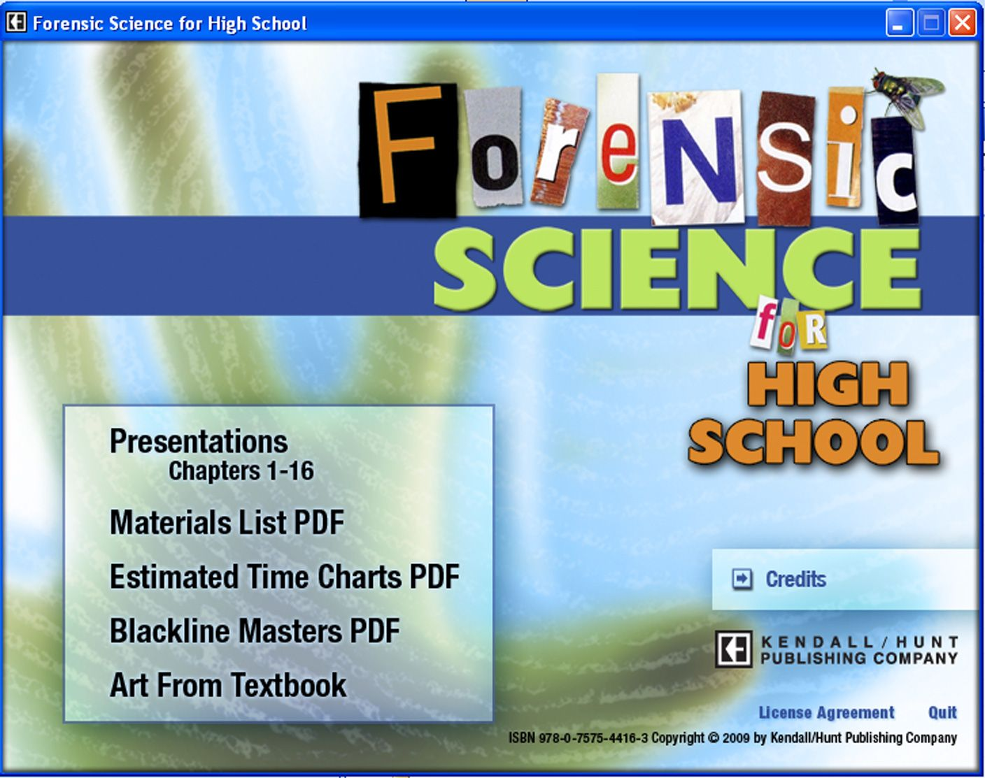Complete Curriculum For High School Forensic Science