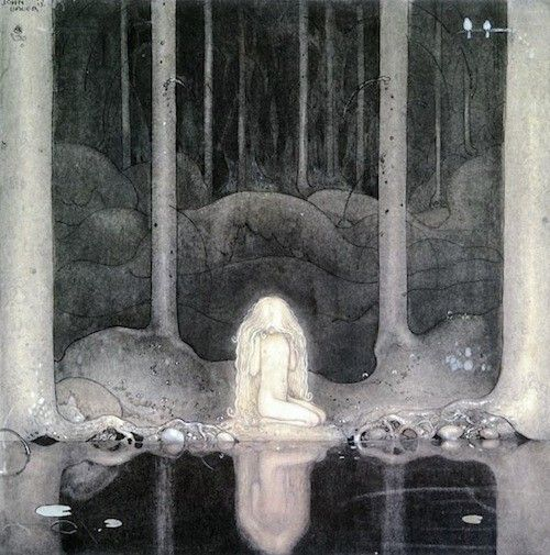 John Bauer.  The poor princess stays by the pool forever looking for her heart necklace.