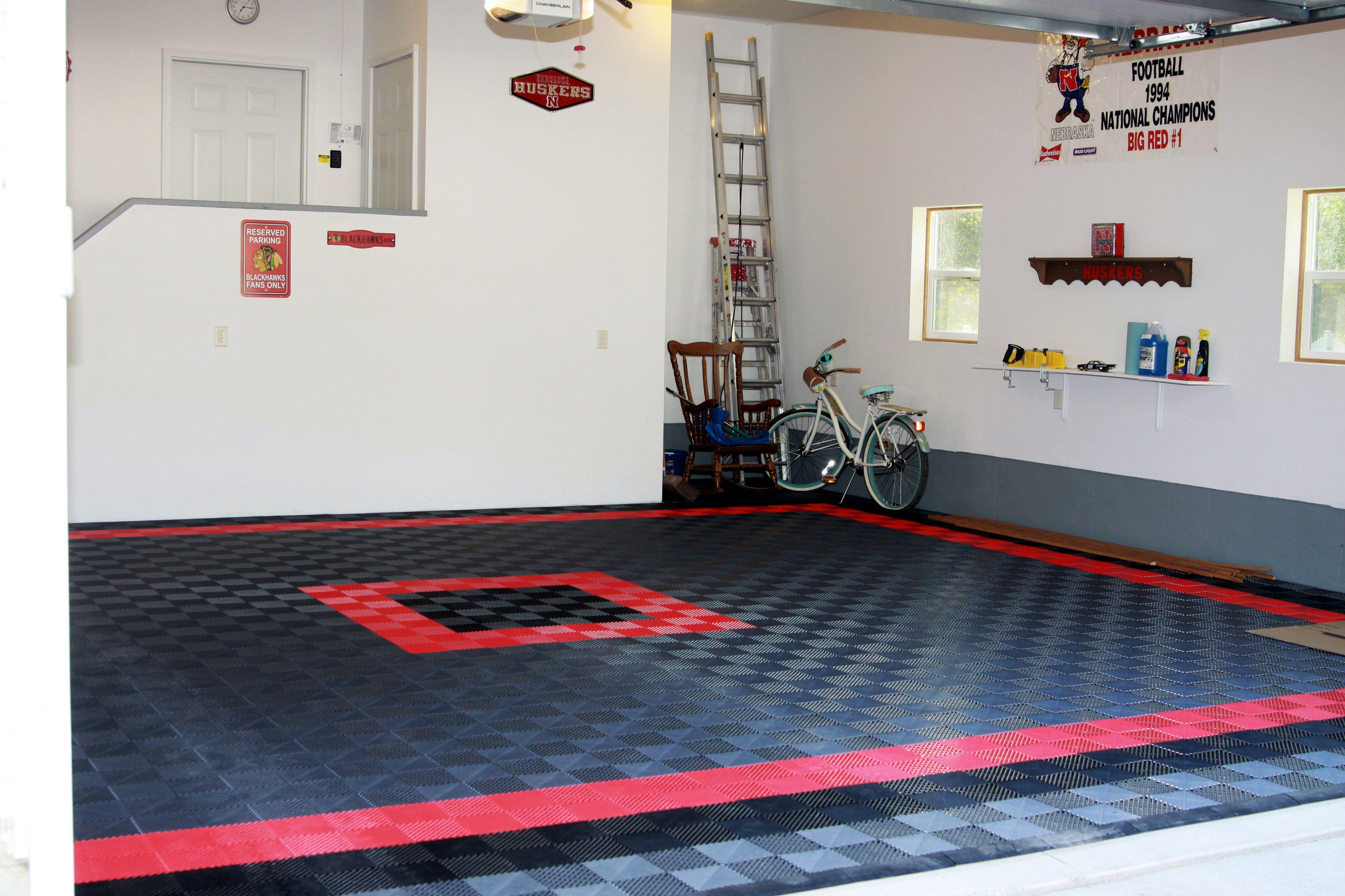 Multi Color Garage Garageflooring Garage Floor Tiles Floor Design Garage Floor