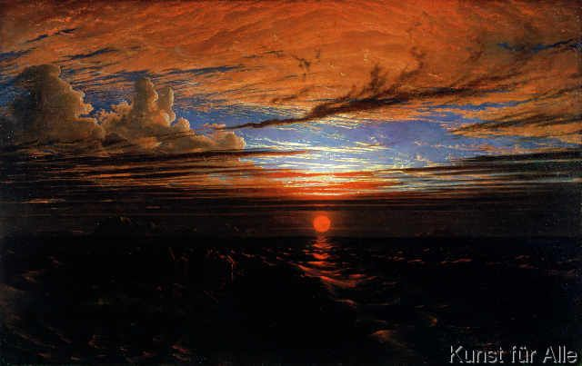 Francis Danby - Sunset at Sea after a Storm, 1824