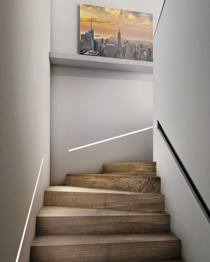 Beleuchtungsideen Treppen Beleuchten Led Lichtleisten