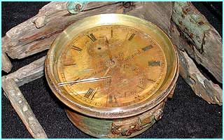 Titanic Pictures Underwater Today 13 The ship's clock or