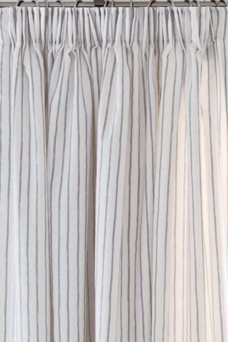 Attractive Grey Stripe Curtains From Next