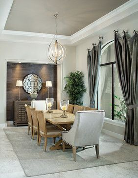 Model Home Dining Rooms new florida model home - transitional - dining room - tampa