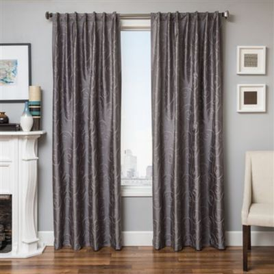 Whole Home Md Sorrento Faux Silk Scroll Embroidered Panels Sears Sears Canada Drapes Curtains Panel Curtains 108 Inch Curtains
