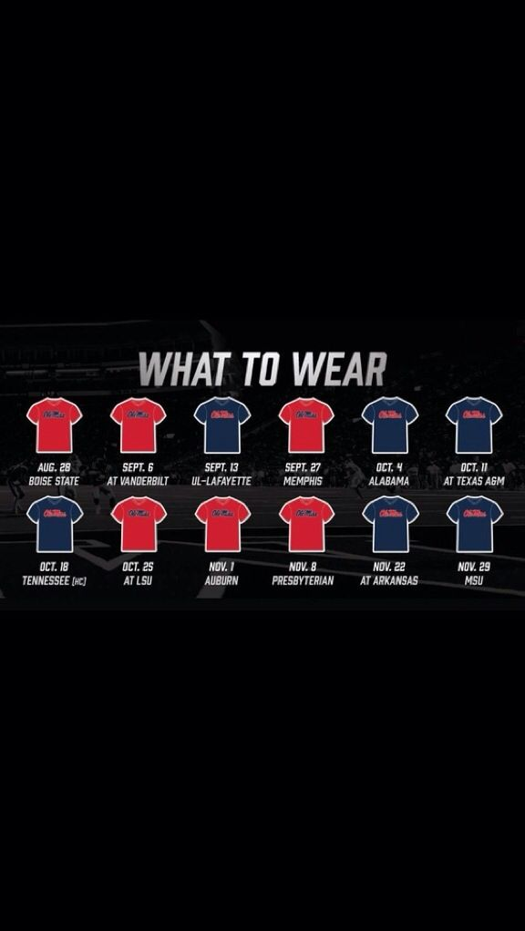 Ole Miss game days colors 2014