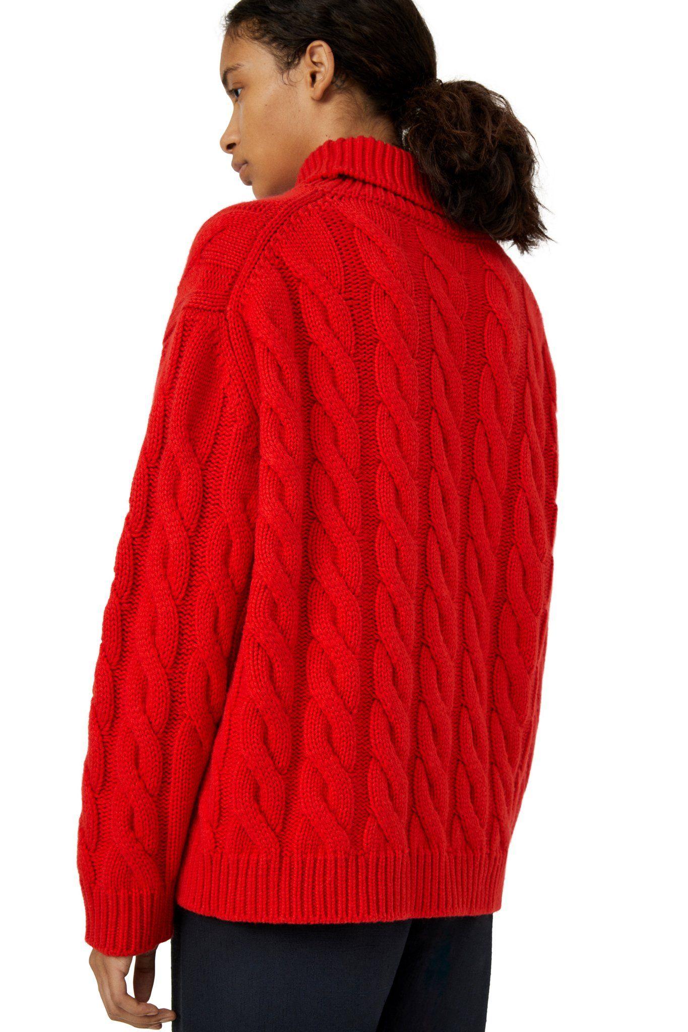 Cashmere Cable Knit Turtleneck - Flamma