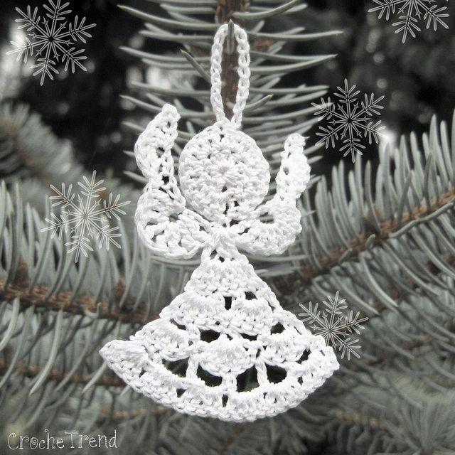 Little Angel Christmas Ornament | Crochet Thread | Pinterest | Nieve ...