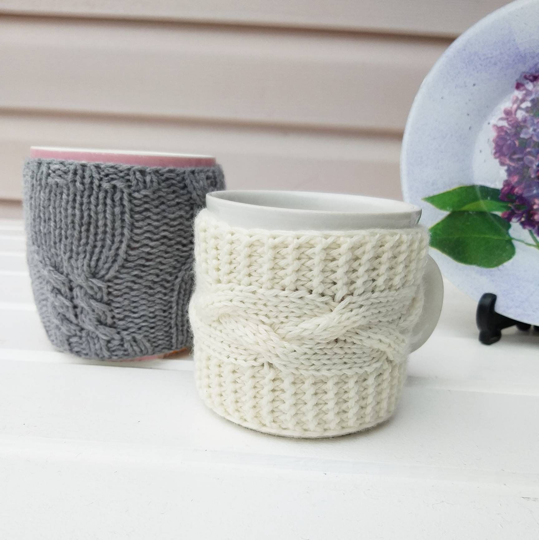Cozy cup warmer Knitted coffee mug cozy Mug sweater Tea