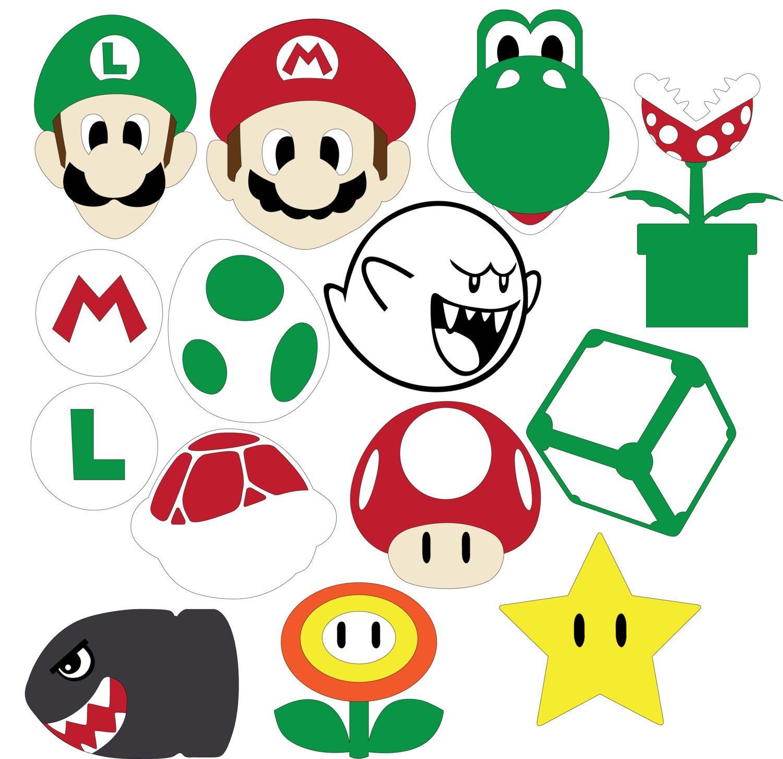 Mario Party archivos SVG y DXF Fiesta de mario, Fiesta