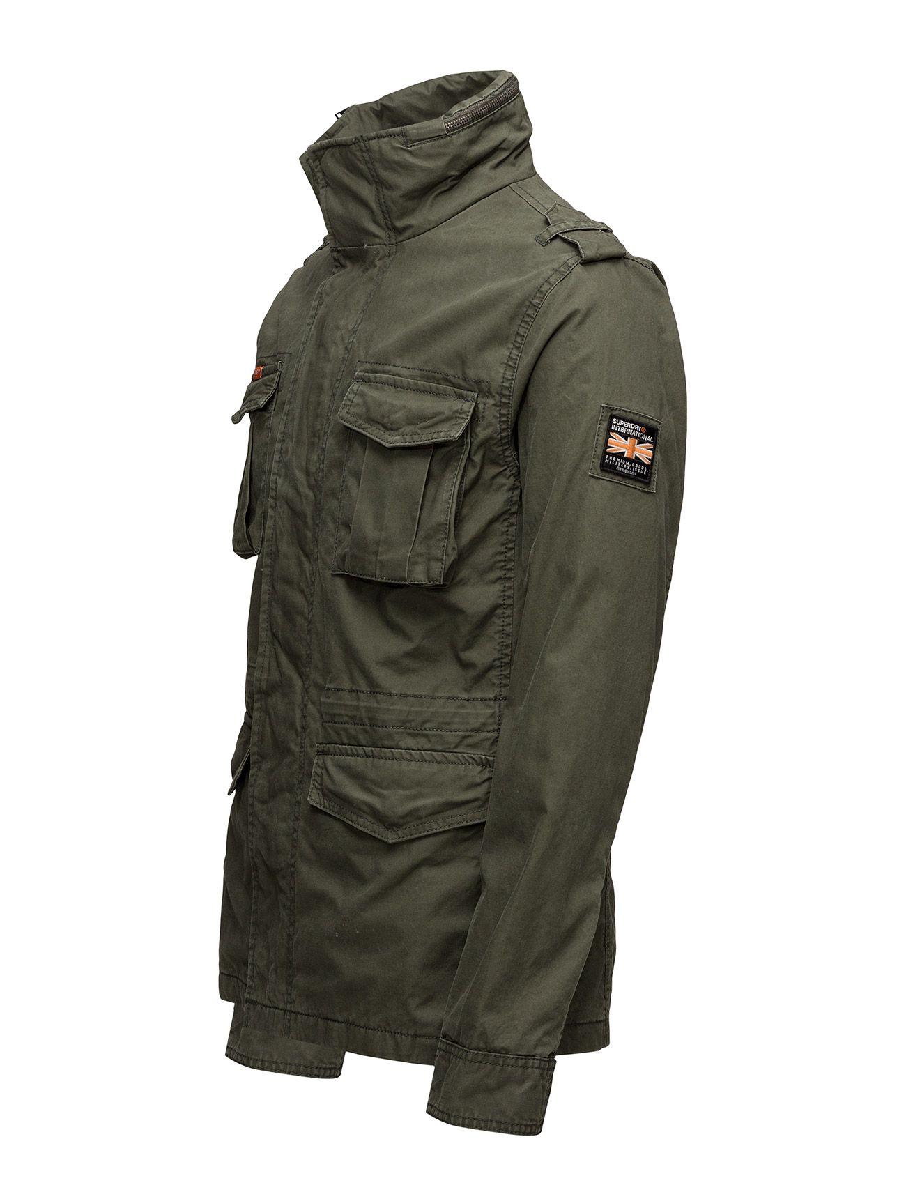 Superdry Classic Rookie Military Jacket Men Clothing Outerwear Jackets Light Patrol Khaki Mens Military Jacket Superdry Jackets Mens Outfits [ 1700 x 1300 Pixel ]