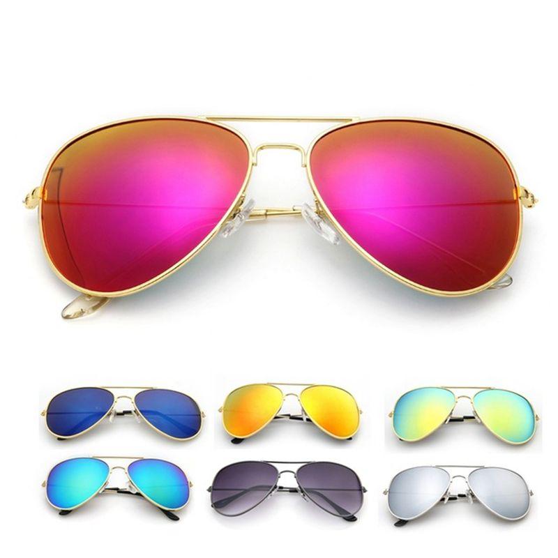 2017 المشي النظارات طيار الرجال نظارات ماركة مصمم النساء نظارات الشمس نجم مرآة السائق للجنسين في الملح Mens Sunglasses Sunglasses Women Aviator Sunglasses Mens