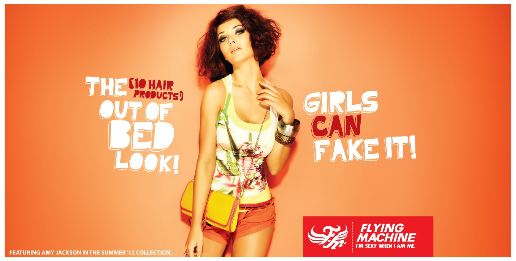 amy jackson for flying machine - girls can fake it | my style