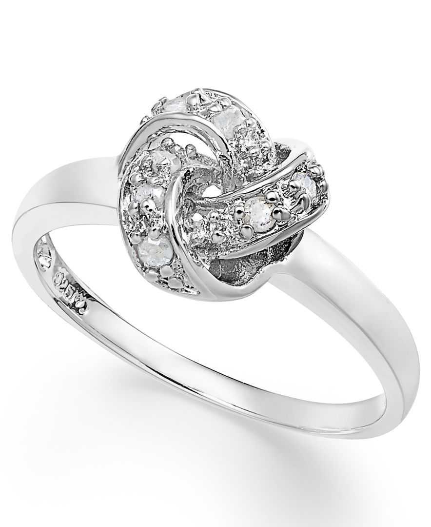 Love Knot Ring In Sterling Silver 110 Ct Tw Jewelry