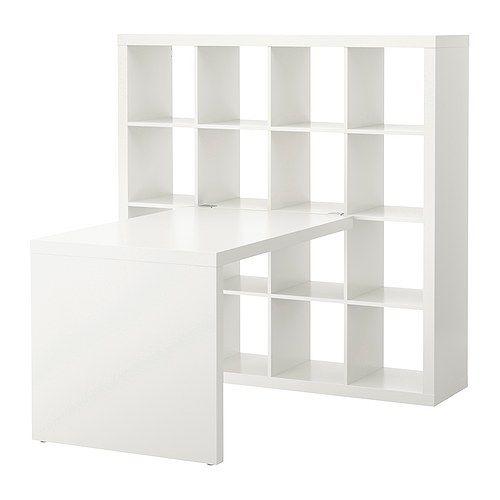 expedit schreibtischkombination ikea auf allen seiten behandelt kann als raumteiler verwendet. Black Bedroom Furniture Sets. Home Design Ideas