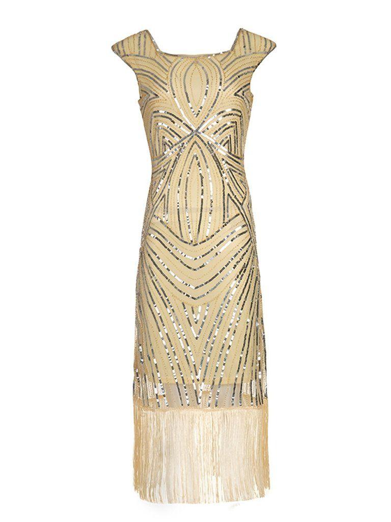 1920s Sequin Flapper Gatsby Dress Gatsby Dress Flapper Dress Retro Black Dress