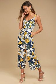 171d71ab235 Feel the sand on your toes in the Amuse Society Calypso Black Print Midi  Jumpsuit!