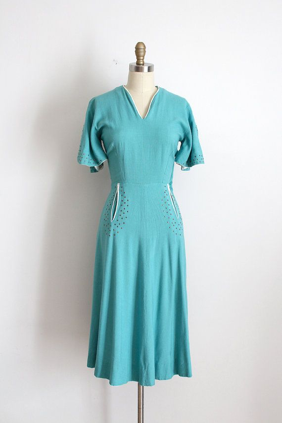 Vintage 1940s Paul Sachs Dress