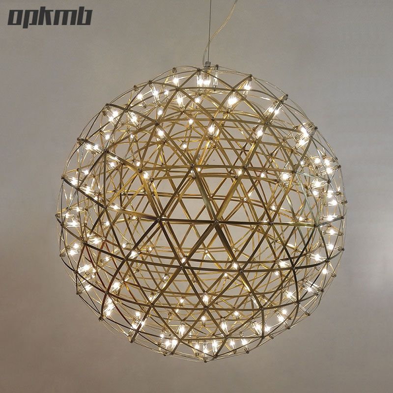 Stainless Steel Firework Pendant Light Ball Firework Lights Modern Creative Living Room Lighting Vi Modern Pendant Light Ball Pendant Lighting Pendant Light