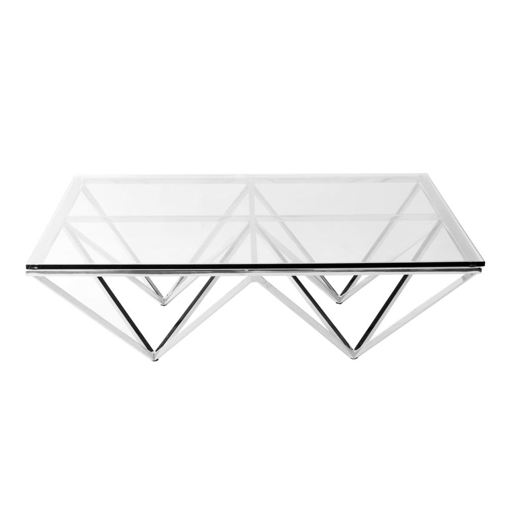 Replica Nuevo Origami Square Coffee Table By Nuevo   Matt Blatt $795  Dimensions 105cm W X 105cm H X 13cm D Materials #202 Polished Stainless  Steel; ...
