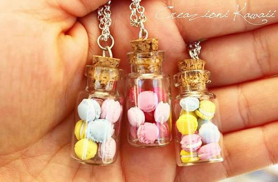 Kawaii Tiny Glass Bottle with Pastel di CreazioniKawaiiShop