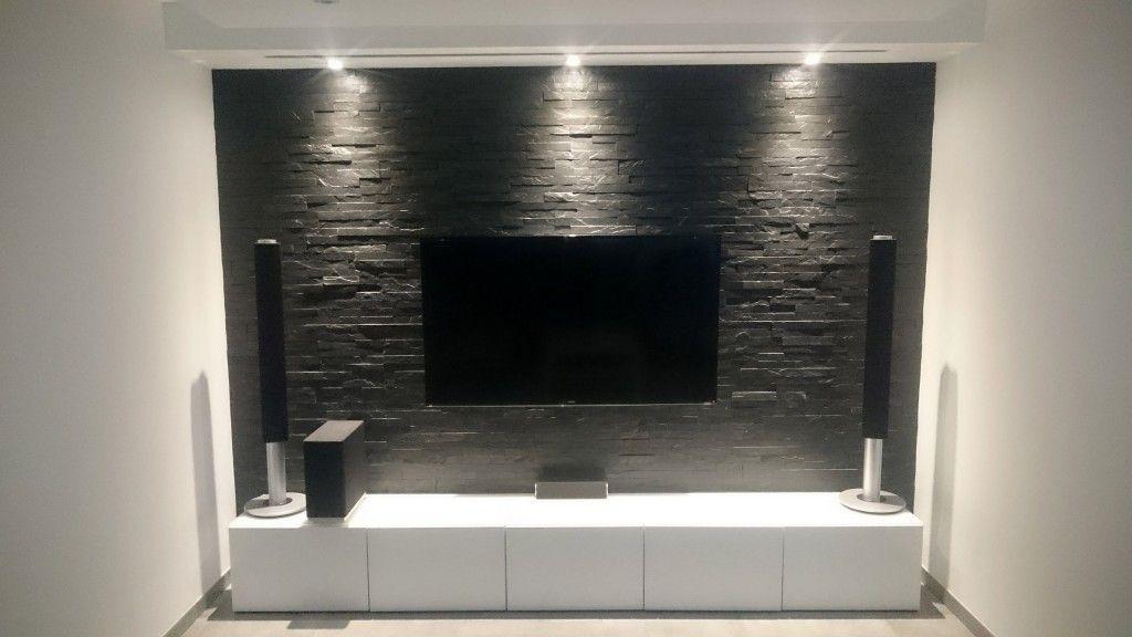 wohnzimmer naturstein verblender mit beleuchtung haus wohnzimmer. Black Bedroom Furniture Sets. Home Design Ideas