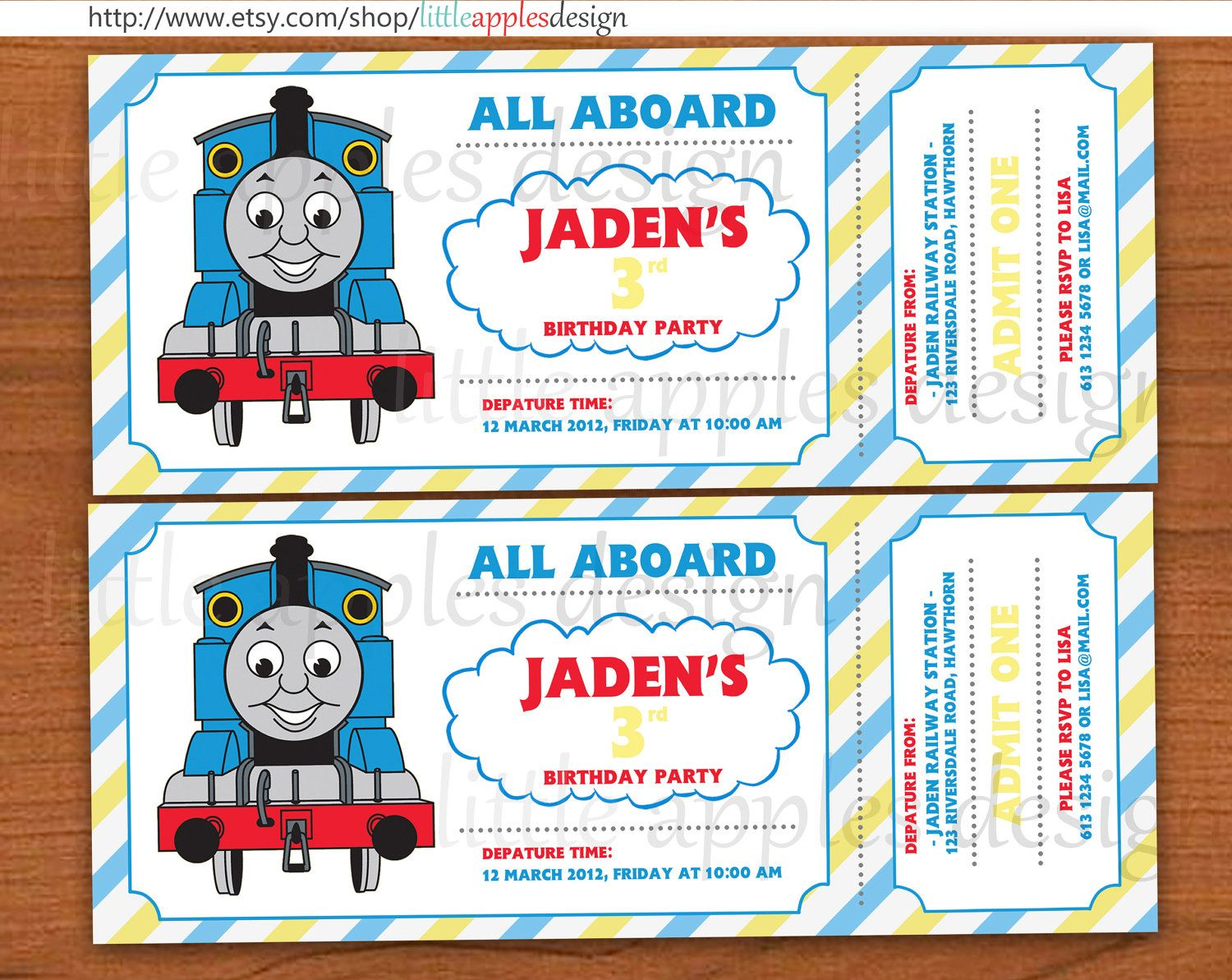 cool thomas and friends invitations – Custom Party Invitation
