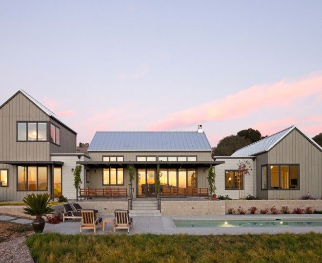 Modern Farmhouse Exterior One Story Metal Roof