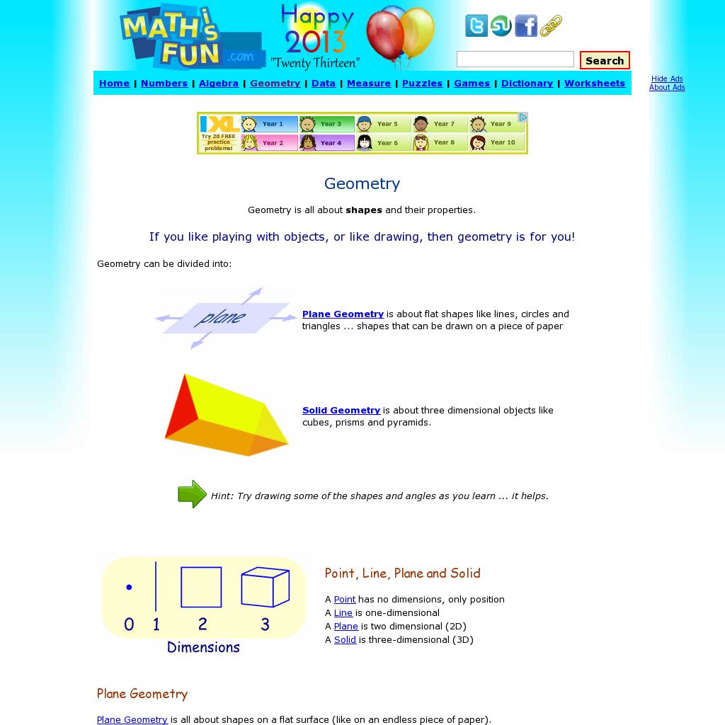 Math Is Fun Geometry Definitions