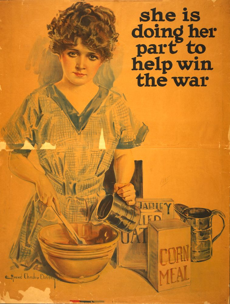 World War 1 Poster, She is doing her part to help win the ...