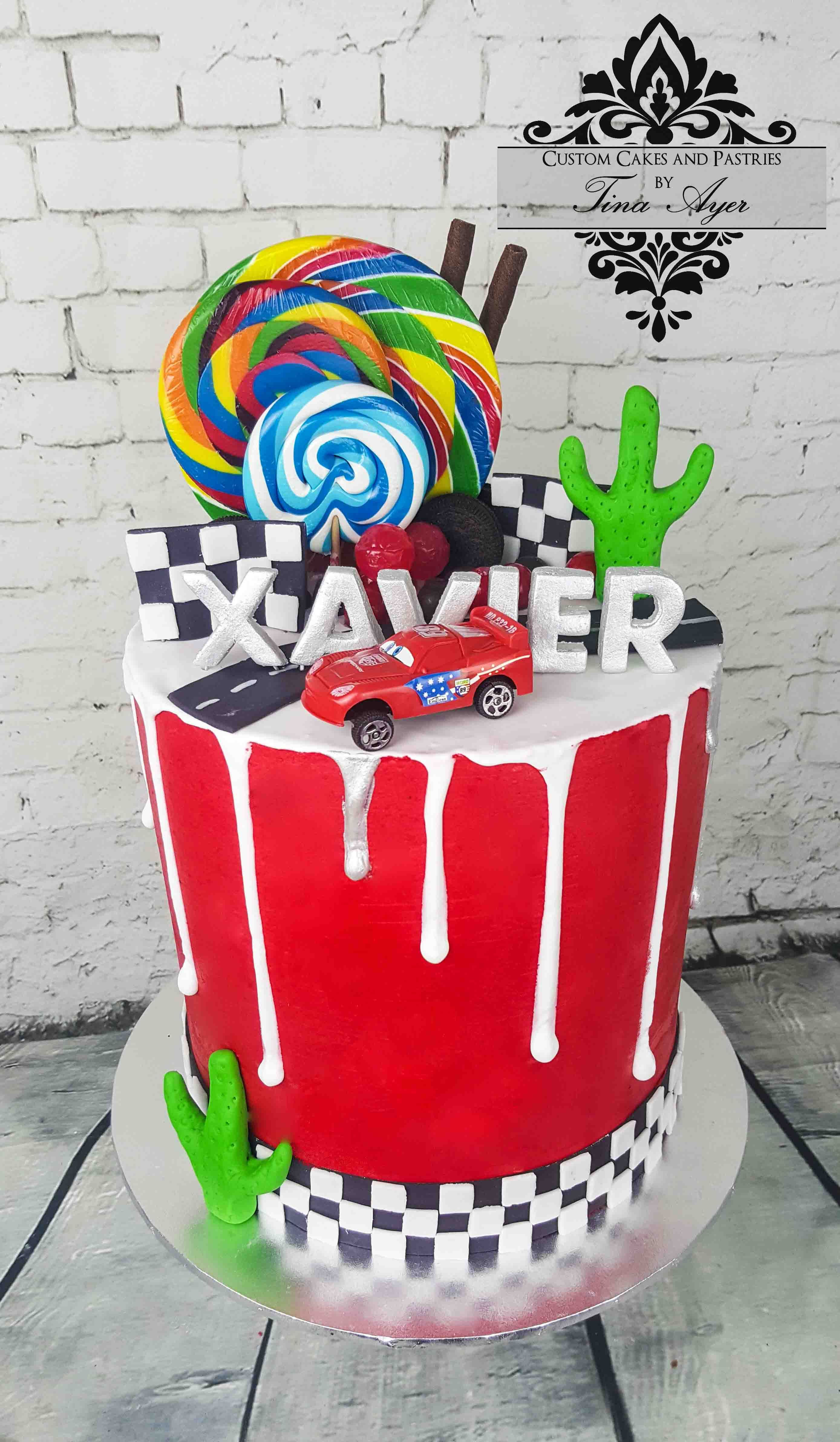 Drip Cake Lightning Mcqeen Cars By Tina Ayer Melbourne Www - Childrens cooking birthday parties melbourne