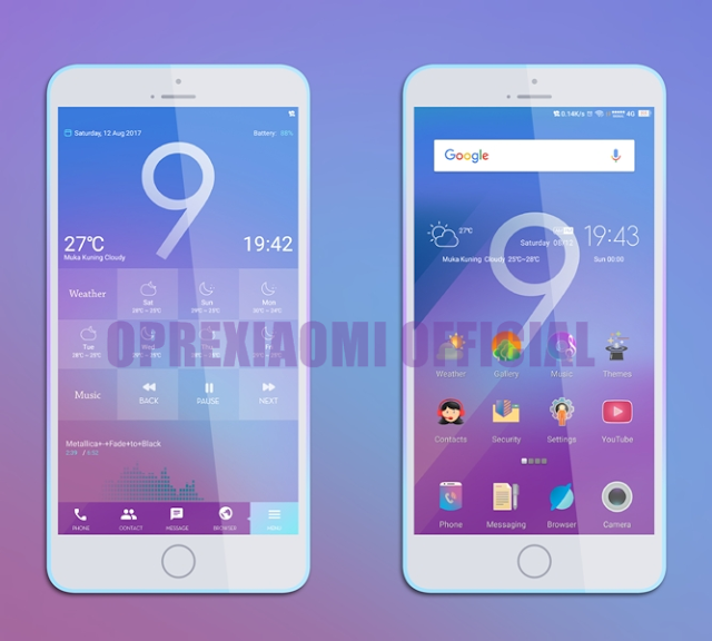 MIUI Theme Core 999 Mtz Full Mod Light Theme New Update