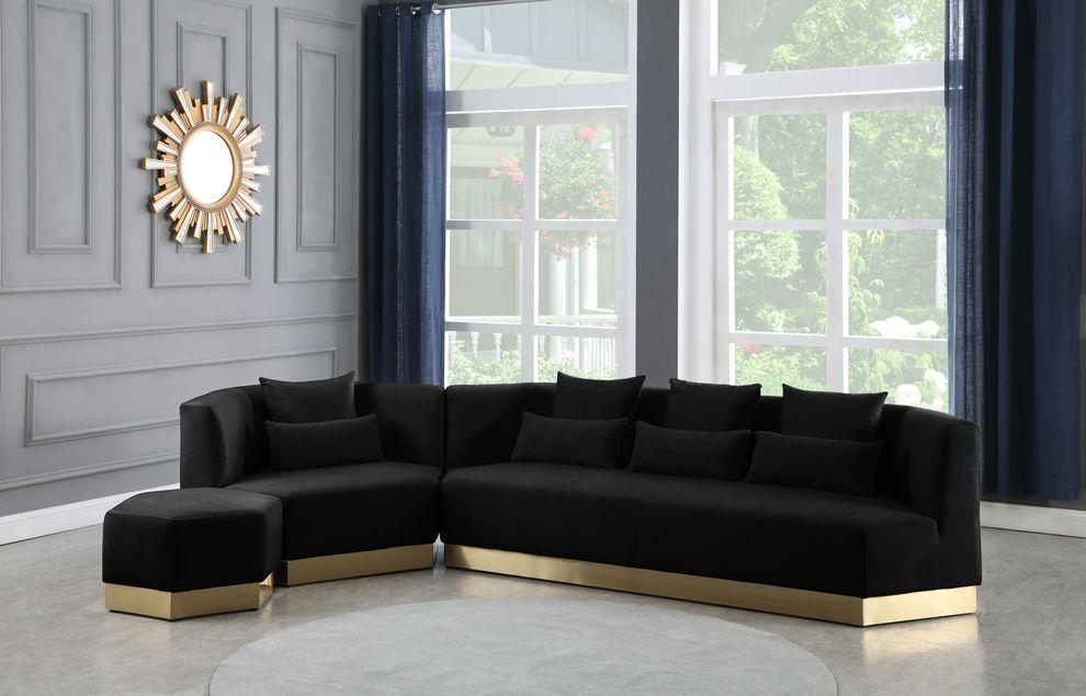 Marquis Black Sofa 600 Meridian Furniture Fabric Sofas Black Living Room Decor Furniture Design Living Room Black Sofa Decor