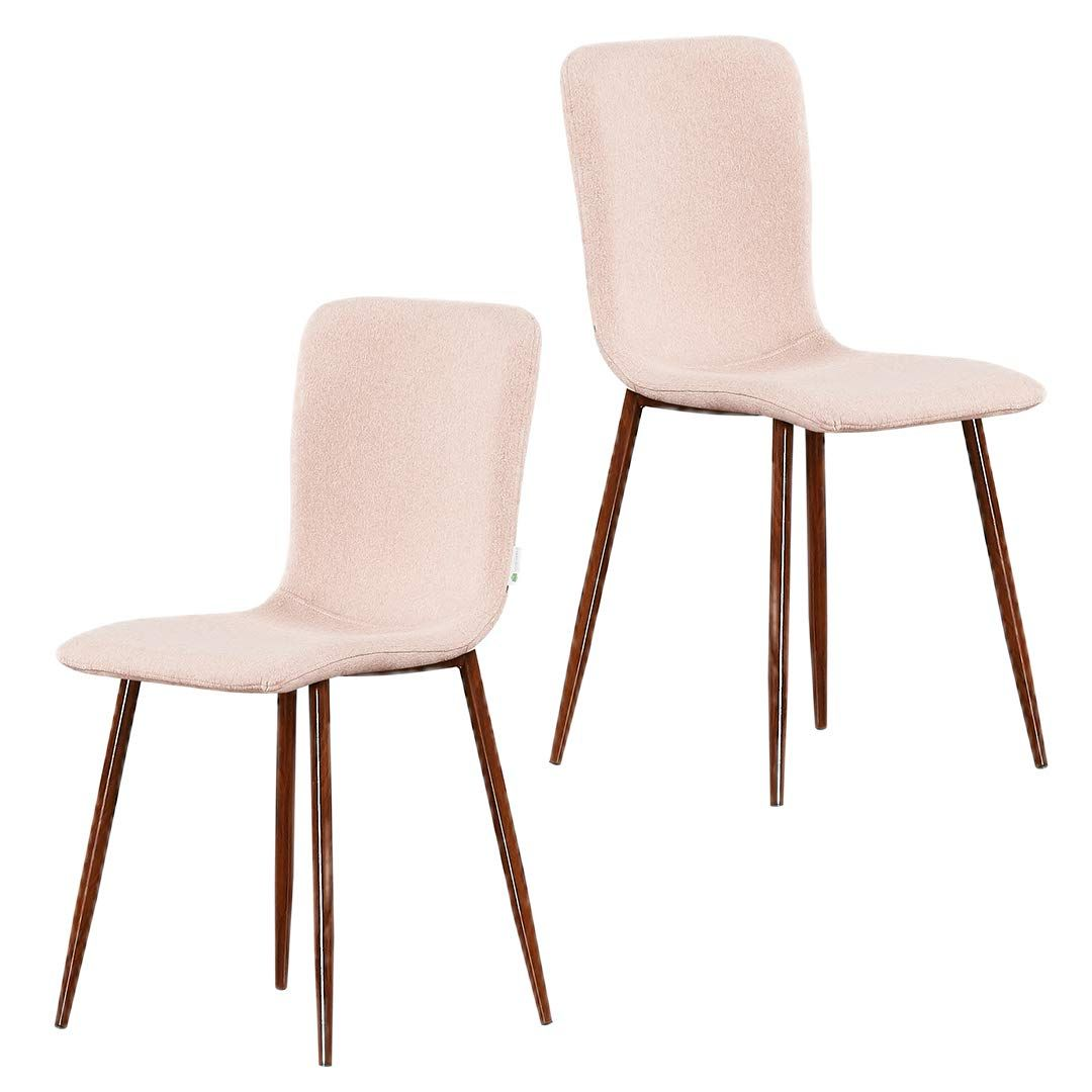 P N Homewares Marco Dining Armchair Fabric In Pink 2 Set Dining