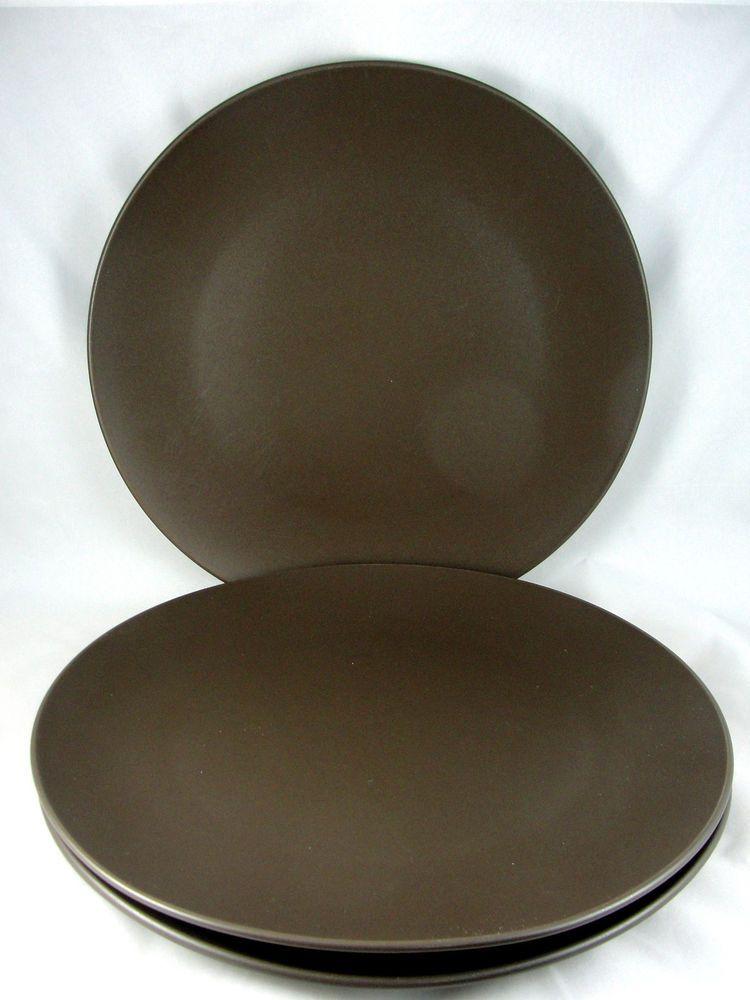 IKEA Dinnerware DINERA BROWN Dinner Plate #10866 (Set of 3) #IKEA & IKEA Dinnerware DINERA BROWN Dinner Plate #10866 (Set of 3)   Brown ...