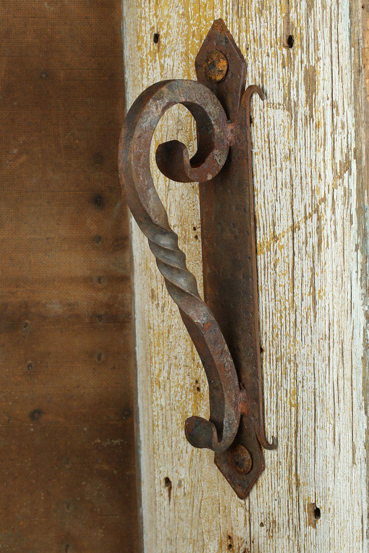 Rustic Door Hardware Iron Door Handle 4 Mexican Iron Hand Hammered