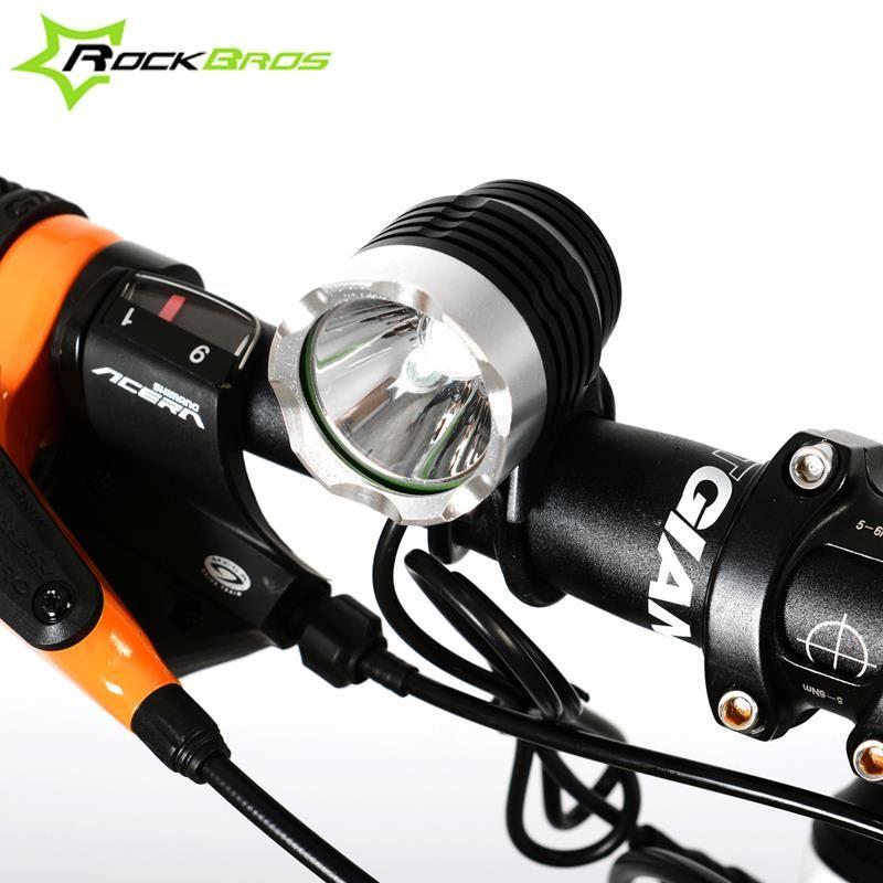 Rockbros Range 200 800m 1200 Lumen Cree Xm L T6 Led Bicycle Headlight Waterproof Cycling Front Light Handlebar Light Lam Bicycle Headlight Bicycle Bike Bicycle