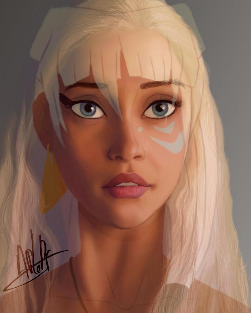Art vs Actress#5 -Daenerys Targaryen+Kidagakash by APlaPi on DeviantArt