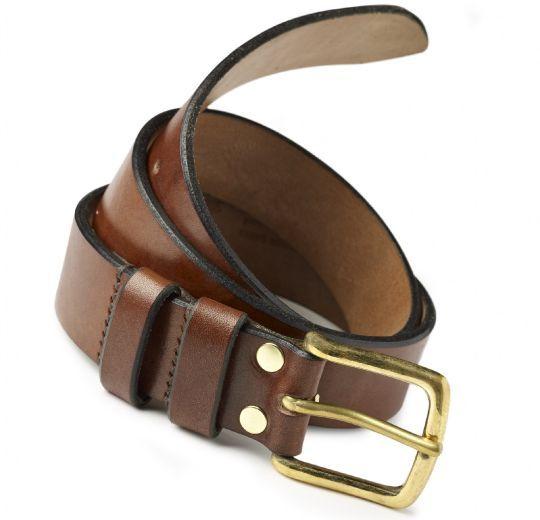 Brown Handmade Oak Bark Men/'s Leather Belt Hand-Stitched