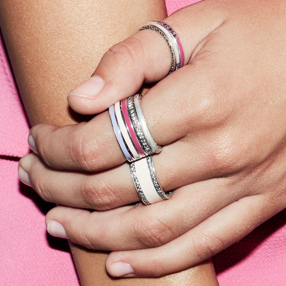 Feldstein Jewelers -  Sneak peek! Combine your favorite hues with Radiant Hearts of PANDORA rings. Made from sterling sil - #cuteoutfits #cuteweddingdress #fashionjewelry #fashiontrends #Feldstein #Jewelers #pandoracharms #pandorarings #trendyoutfits #weddingbride