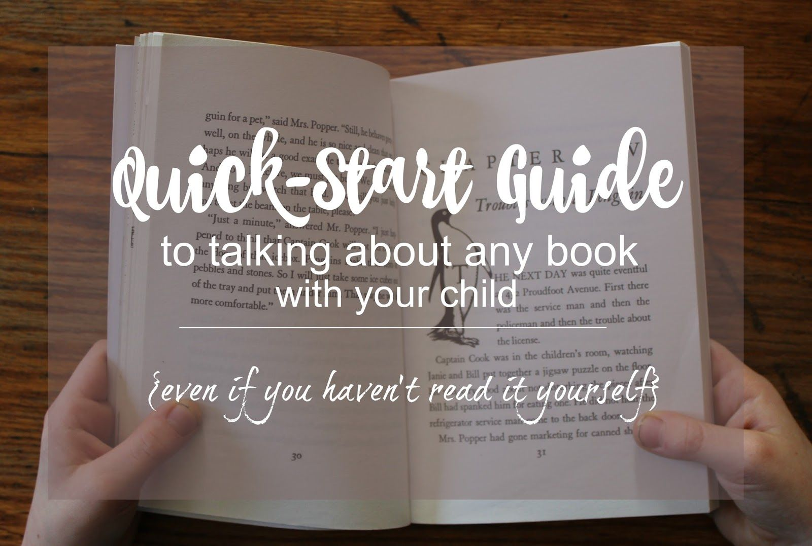 The Quick Start Guide To Talking About Books With Kids With A Free Printable Books Homeschool Books Homeschool Reading