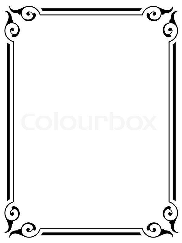 simple frame border design. Simple Victorian Border - Google Search Frame Design ,