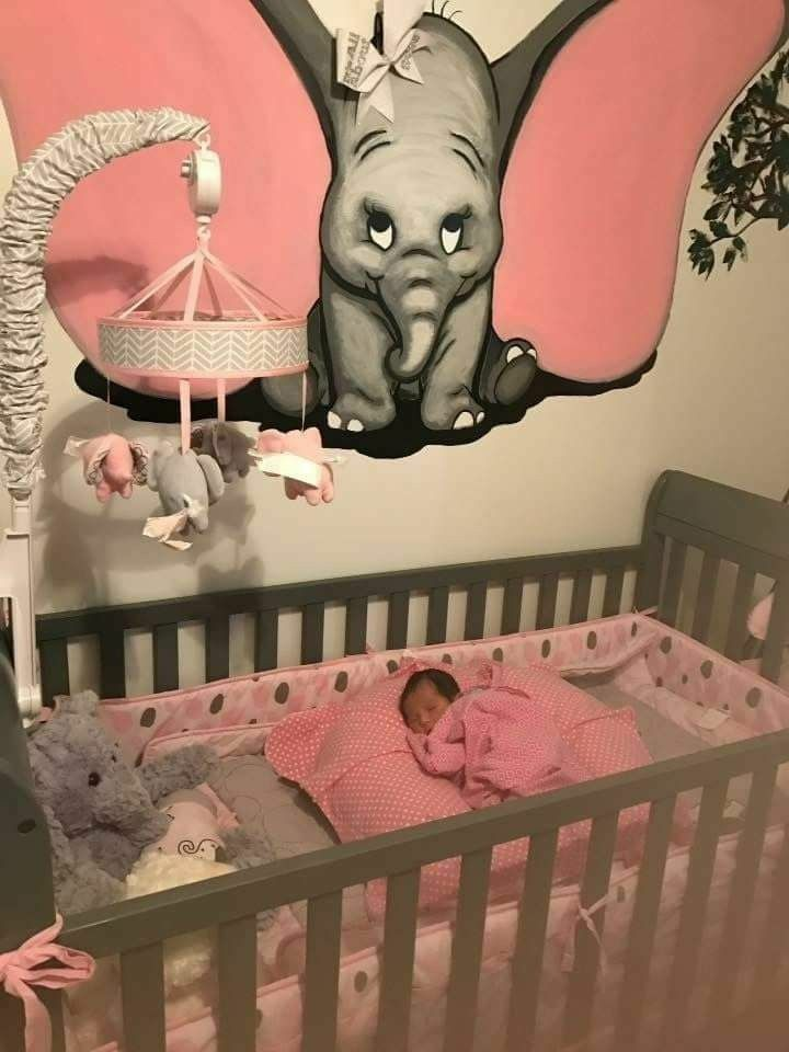 Baby Girl Elephant Decor I Like The Art. Could Use More