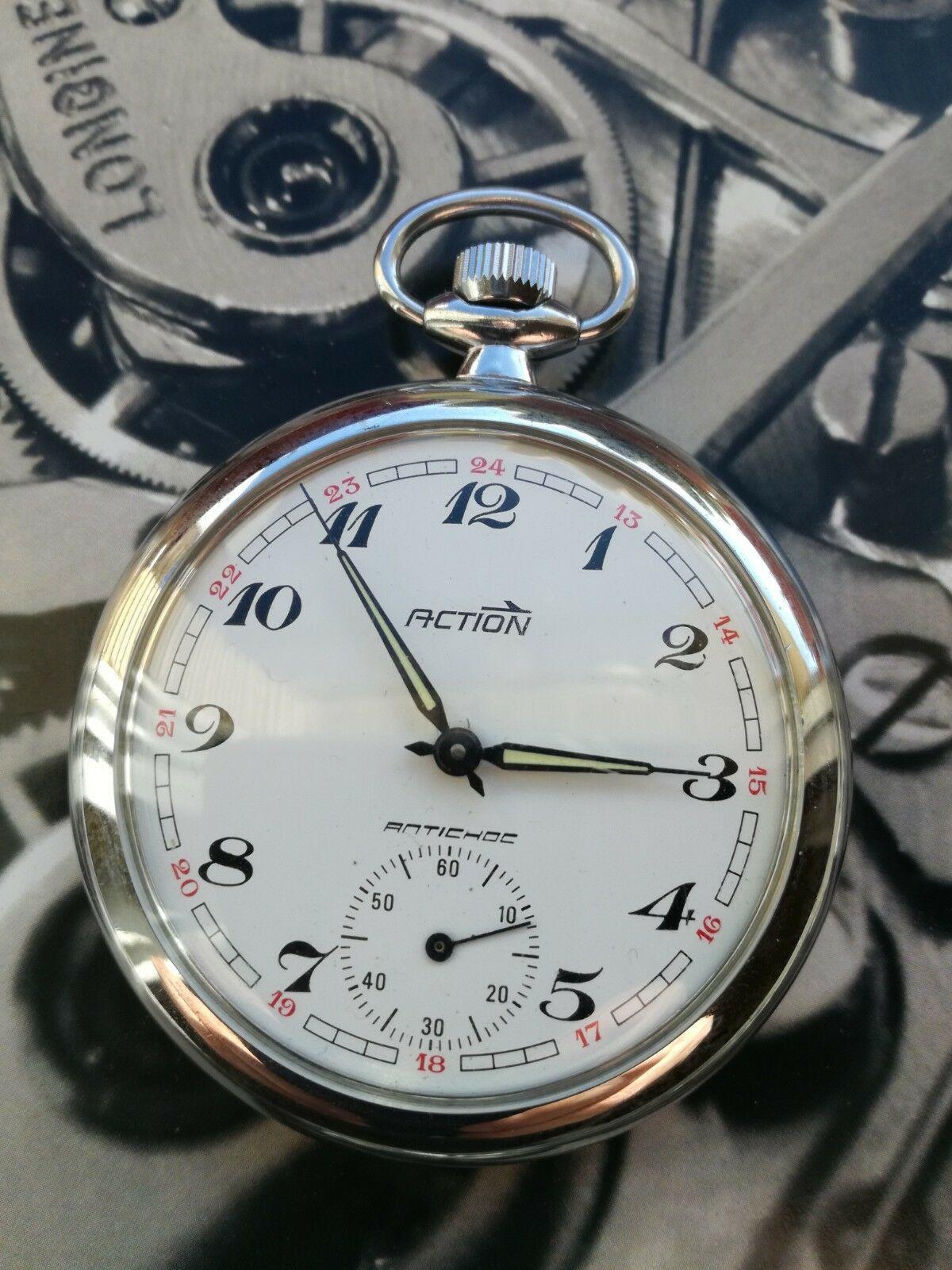 Reloj 00€Relojes De Bolsillo Marca Action 60 • Antiguo UMpqVSz